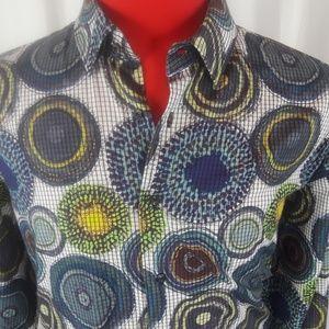 Other - Visconti Black XLT Shirt Multicolors Designs Lg SL
